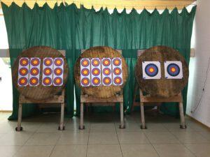 Unsere Zielscheiben im Schützenhaus